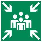 Rettungszeichen E007 Sammelstelle